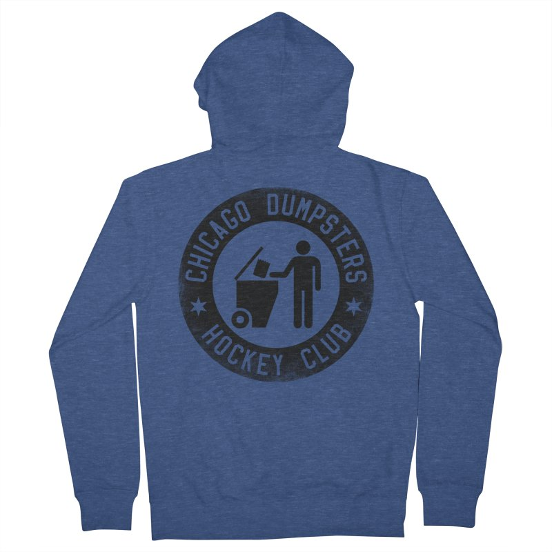 Dumpster Hockey 4 Life Women's Zip-Up Hoody by Billy Carlson