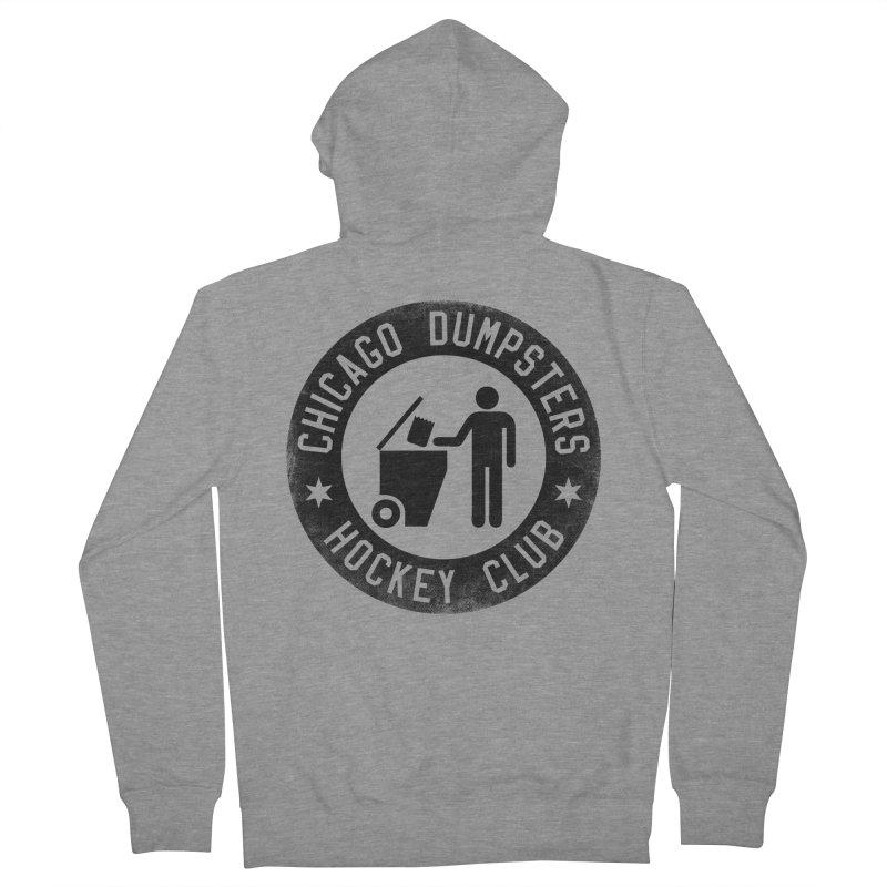 Dumpster Hockey 4 Life Men's Zip-Up Hoody by Billy Carlson