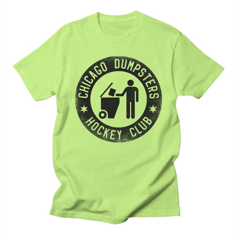 Dumpster Hockey 4 Life Men's T-shirt by Billy Carlson