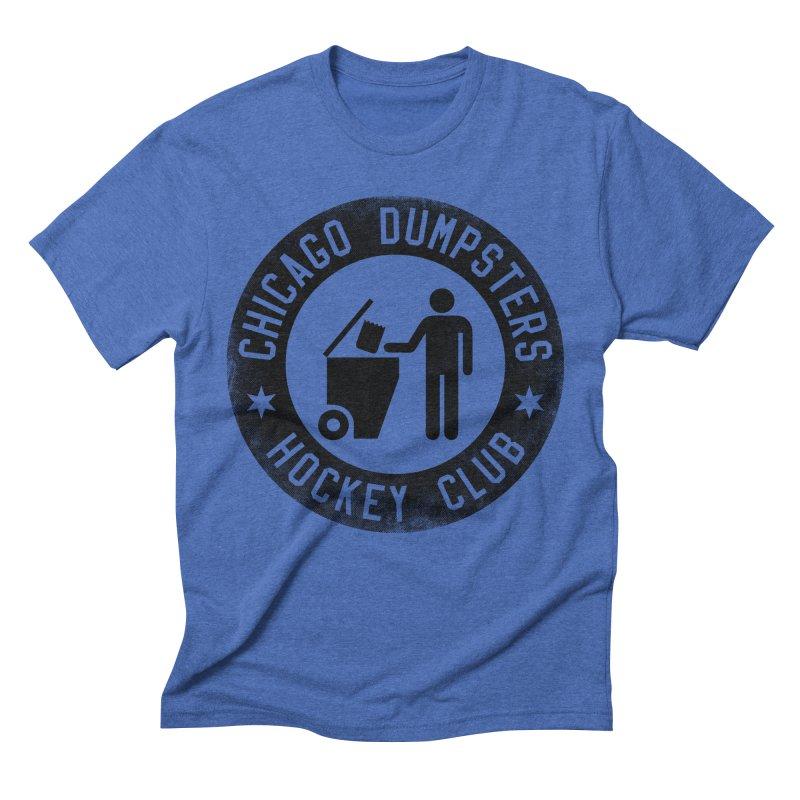 Dumpster Hockey 4 Life Men's Triblend T-shirt by Billy Carlson