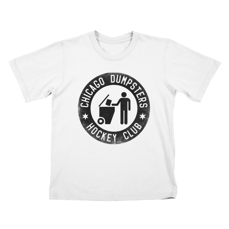 Dumpster Hockey 4 Life Kids T-shirt by Billy Carlson