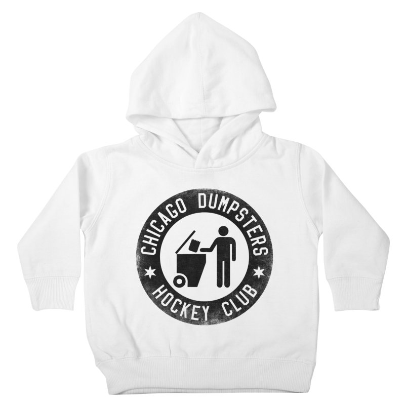 Dumpster Hockey 4 Life Kids Toddler Pullover Hoody by Billy Carlson
