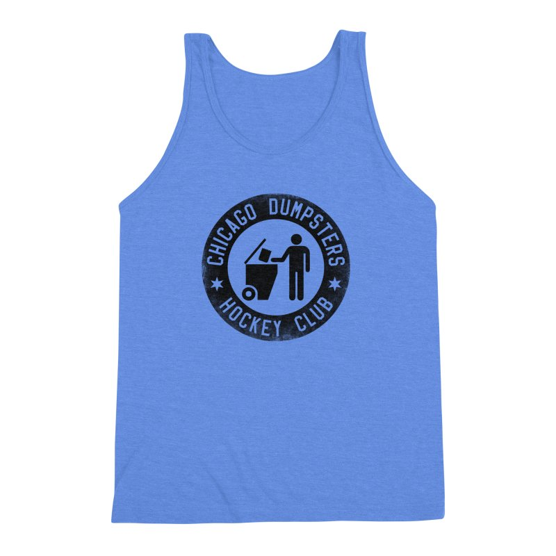 Dumpster Hockey 4 Life Men's Triblend Tank by Billy Carlson