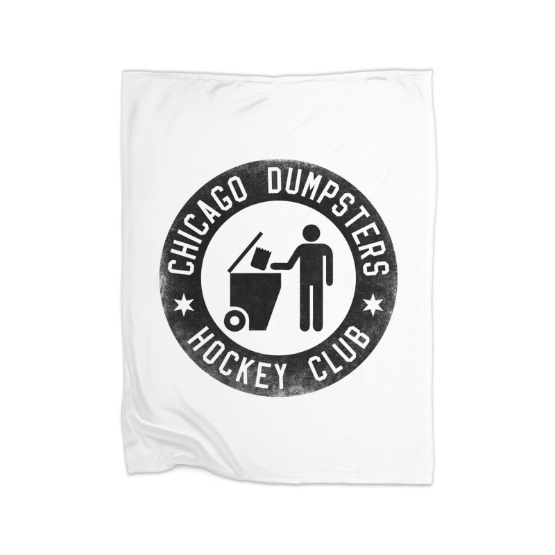 Dumpster Hockey 4 Life Home Blanket by Billy Carlson