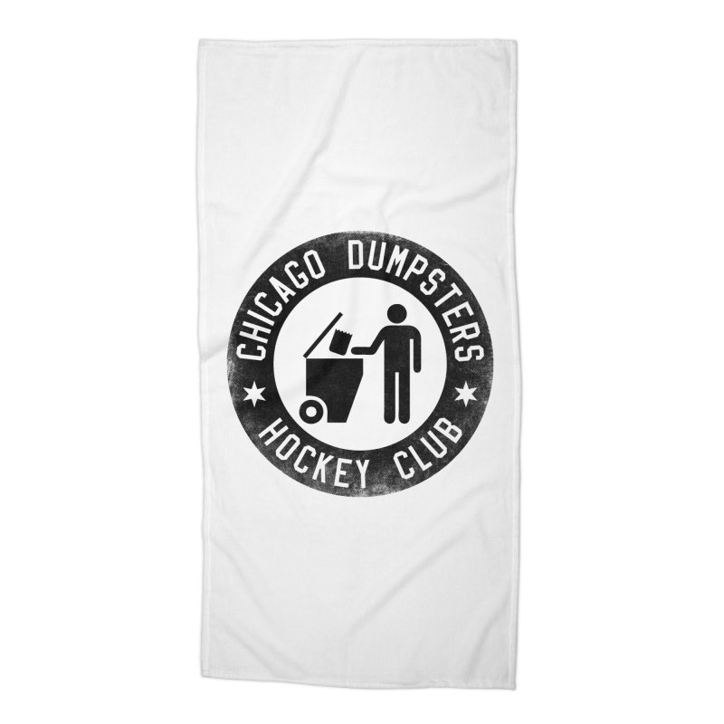 Dumpster Hockey 4 Life Accessories Beach Towel by Billy Carlson