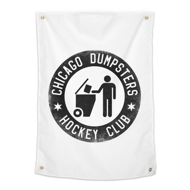 Dumpster Hockey 4 Life Home Tapestry by Billy Carlson