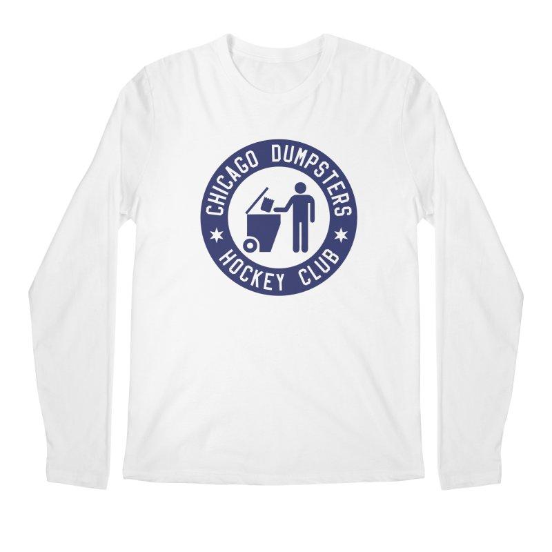 Dumpster Hockey 4 Life Men's Longsleeve T-Shirt by Billy Carlson