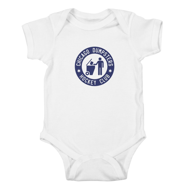 Dumpster Hockey 4 Life Kids Baby Bodysuit by Billy Carlson