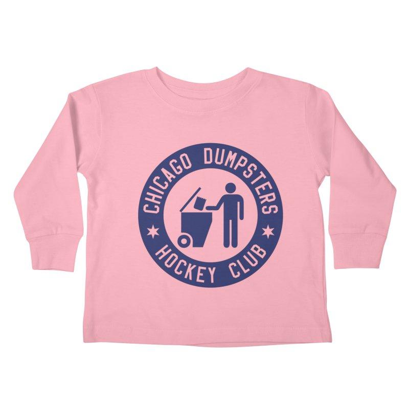 Dumpster Hockey 4 Life Kids Toddler Longsleeve T-Shirt by Billy Carlson