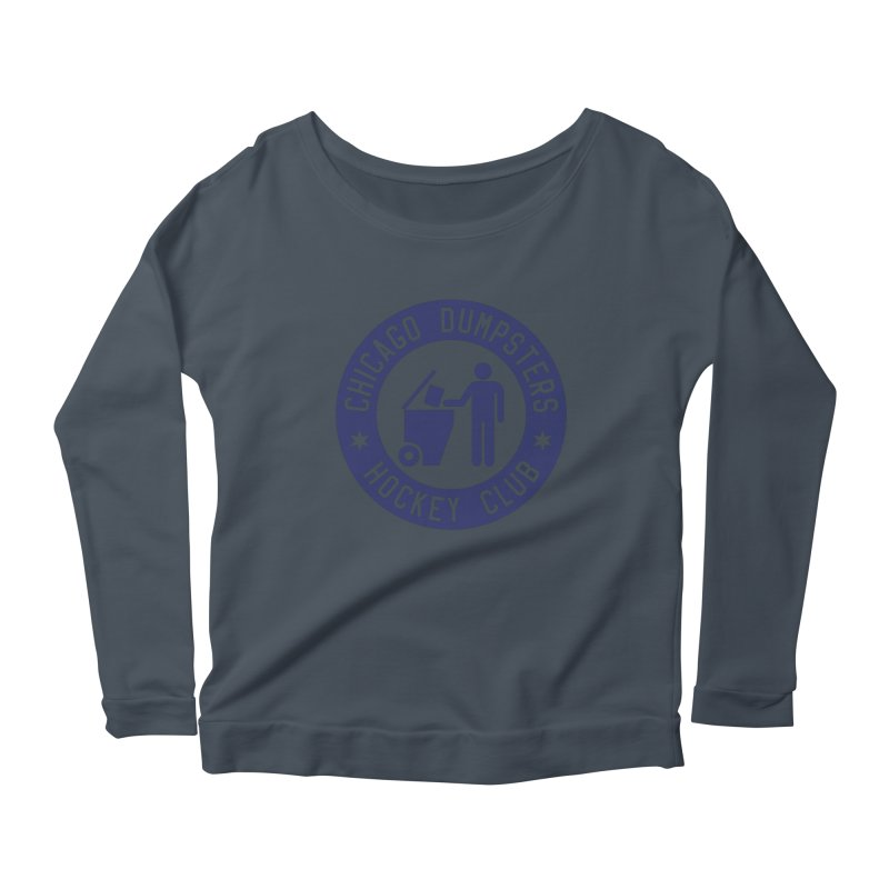 Dumpster Hockey 4 Life Women's Longsleeve Scoopneck  by Billy Carlson