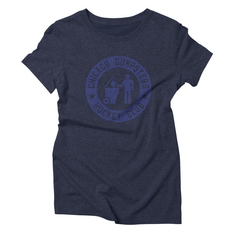 Dumpster Hockey 4 Life Women's Triblend T-Shirt by Billy Carlson