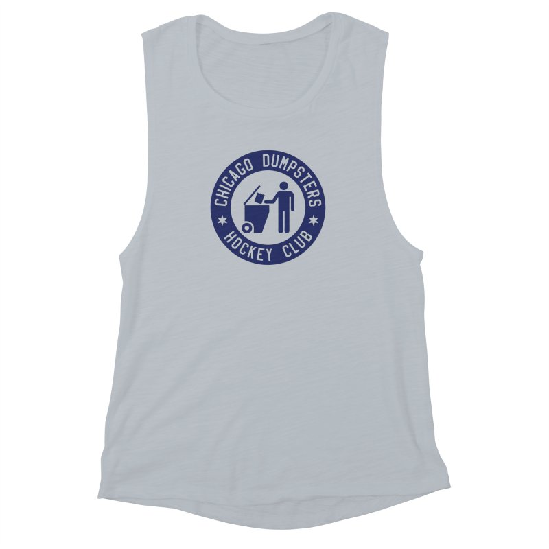 Dumpster Hockey 4 Life Women's Muscle Tank by Billy Carlson