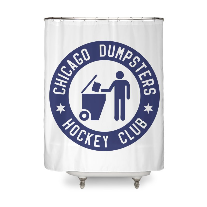 Dumpster Hockey 4 Life Home Shower Curtain by Billy Carlson