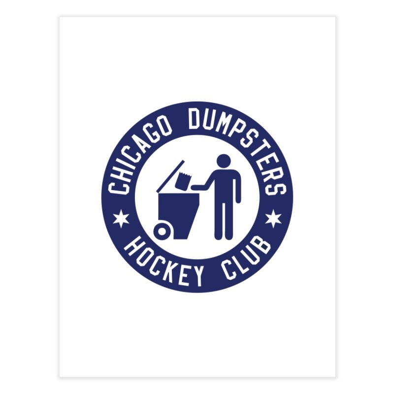 Dumpster Hockey 4 Life Home Fine Art Print by Billy Carlson