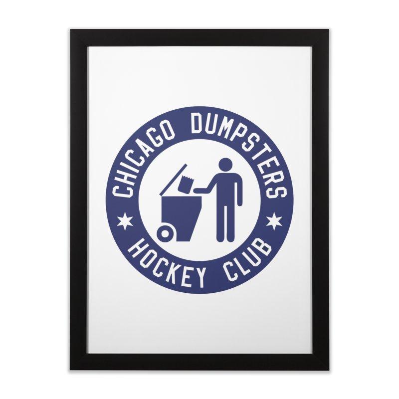 Dumpster Hockey 4 Life Home Framed Fine Art Print by Billy Carlson