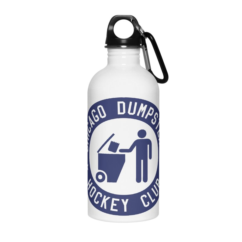 Dumpster Hockey 4 Life Accessories Water Bottle by Billy Carlson