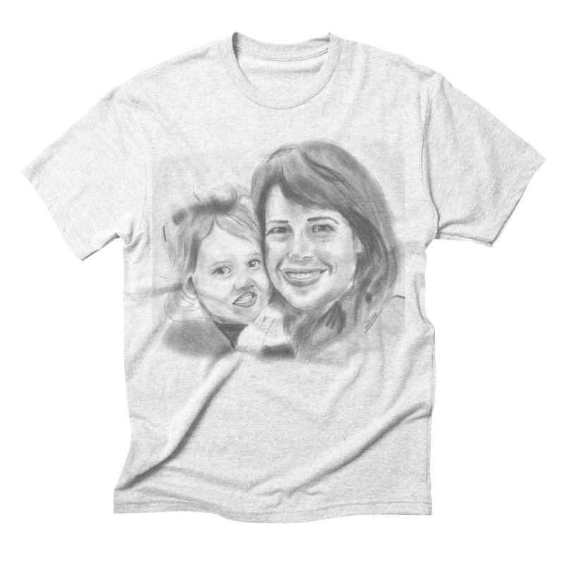 Mama Daughter Day in Men's Triblend T-shirt Heather White by Billy Carlson