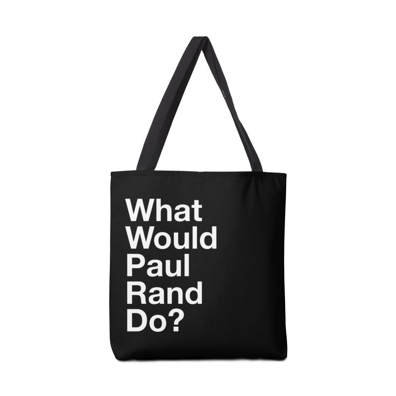 What Would Rand Do? (White) Accessories Bag by Billy Carlson