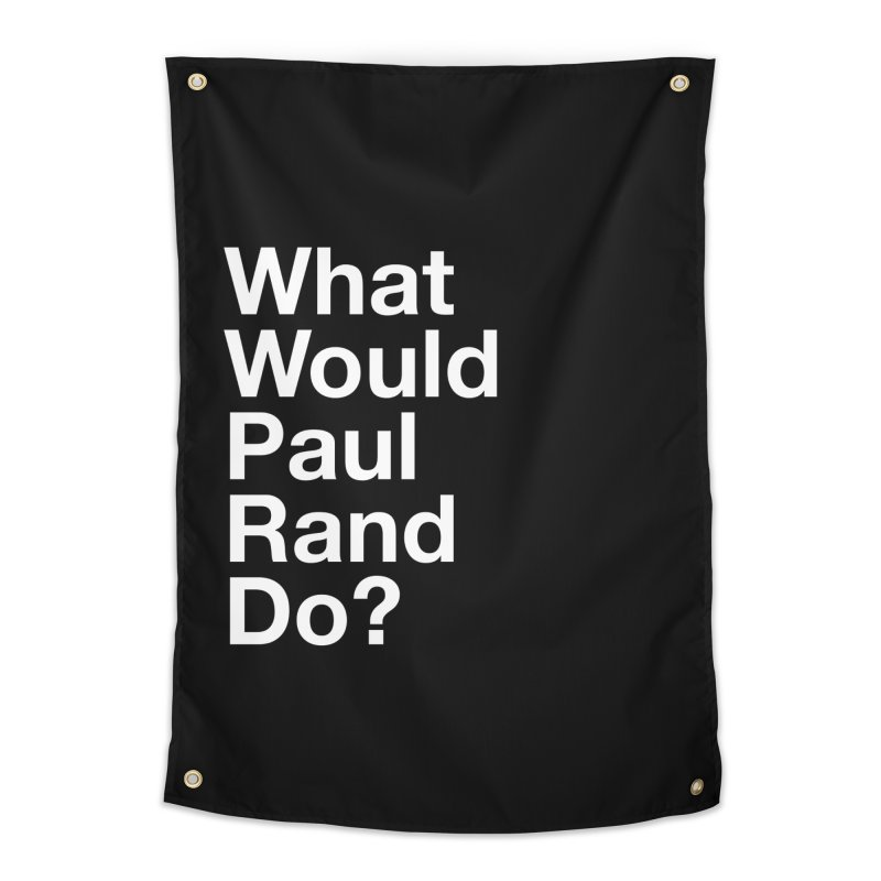 What Would Rand Do? (White) Home Tapestry by Billy Carlson
