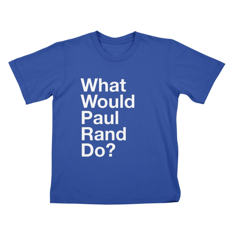 What Would Rand Do? (White) Kids T-shirt by Billy Carlson