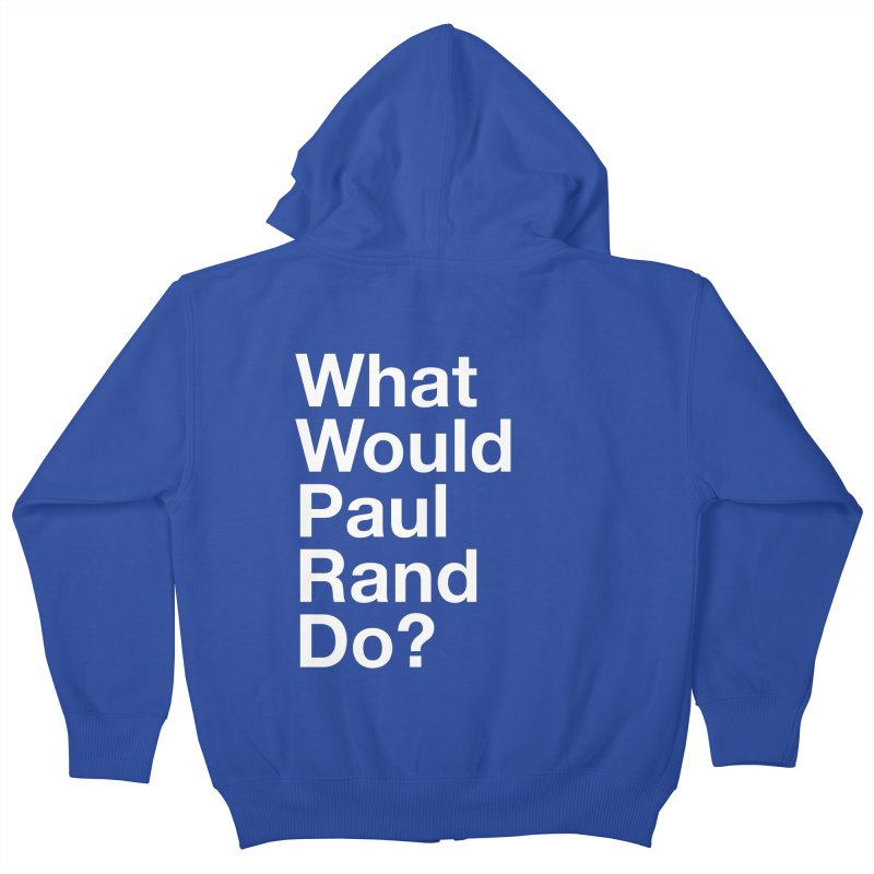What Would Rand Do? (White) Kids Zip-Up Hoody by Billy Carlson