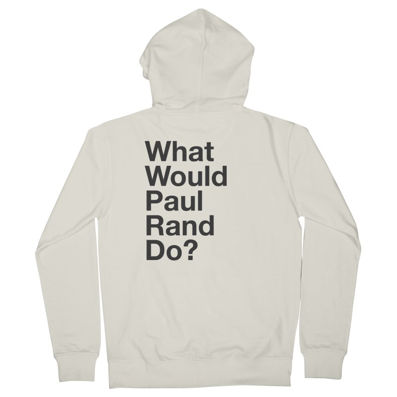 What Would Rand Do? (Black) Women's Zip-Up Hoody by Billy Carlson