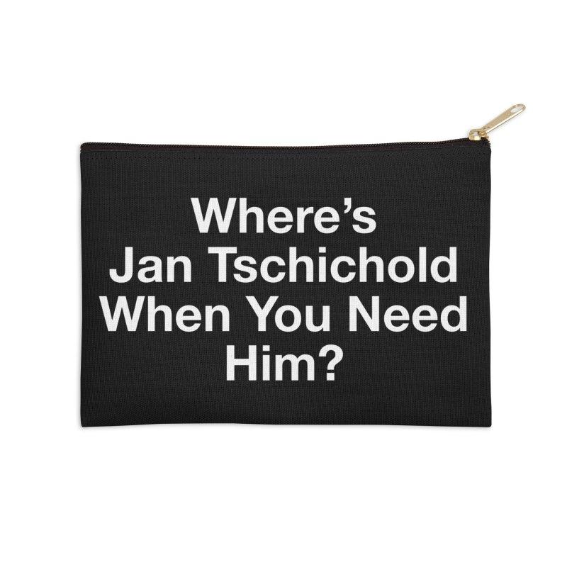 jan tschichold white Accessories Zip Pouch by Billy Carlson