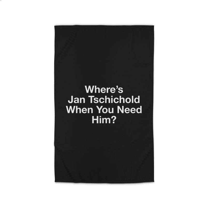 jan tschichold white Home Rug by Billy Carlson