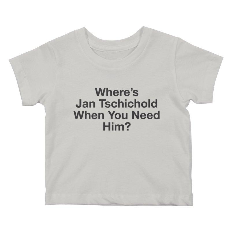 Jan Tschichold Kids Baby T-Shirt by Billy Carlson