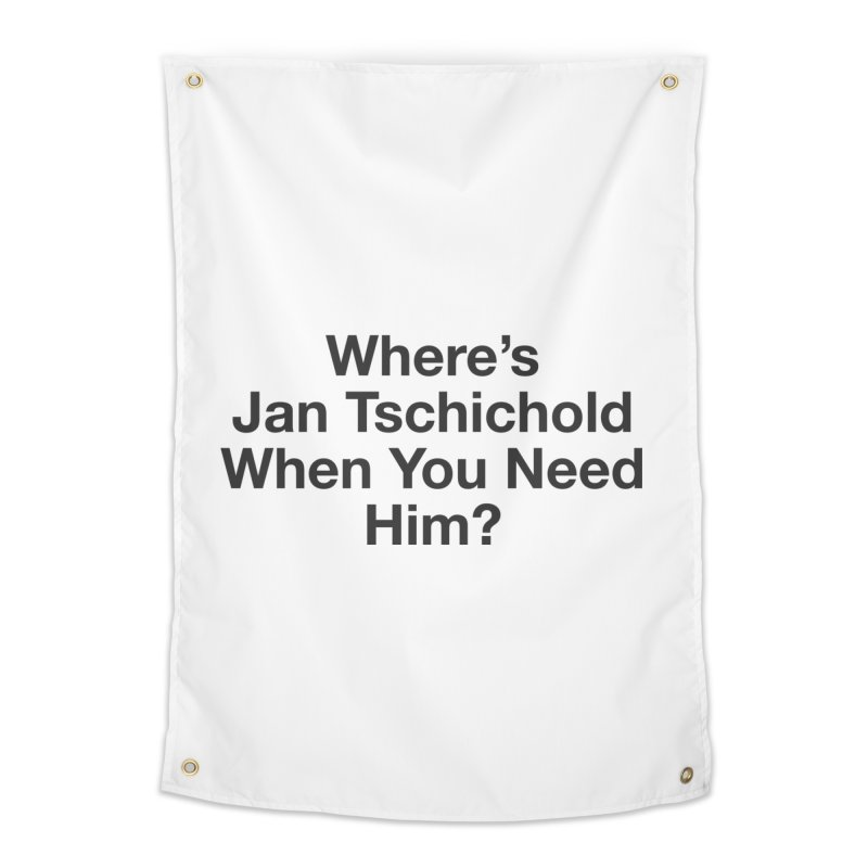 Jan Tschichold Home Tapestry by Billy Carlson