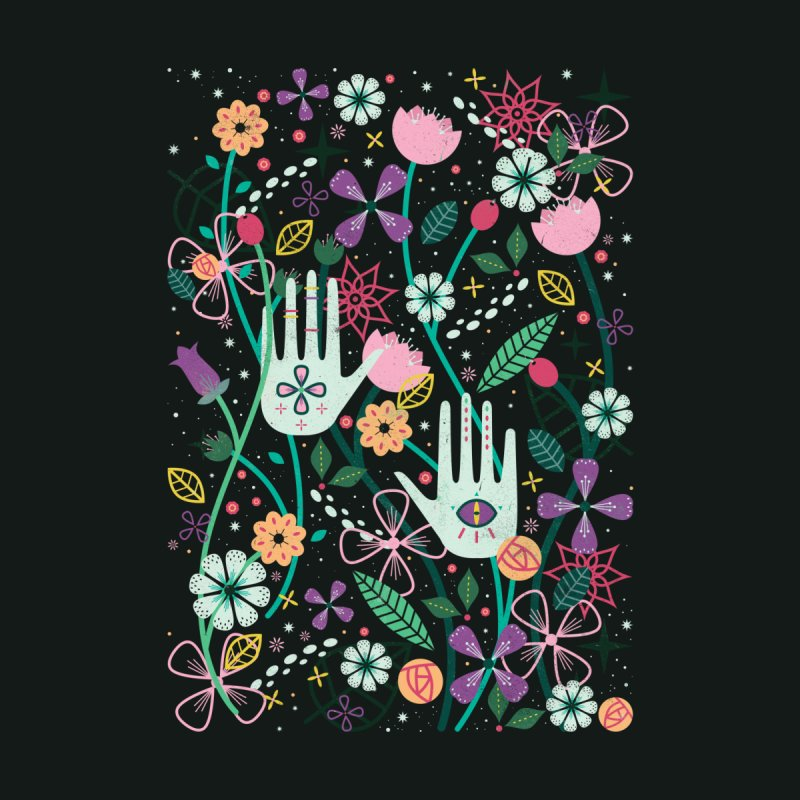 Botanical Hands  Women's Fitted T-Shirt by carlywatts's Shop