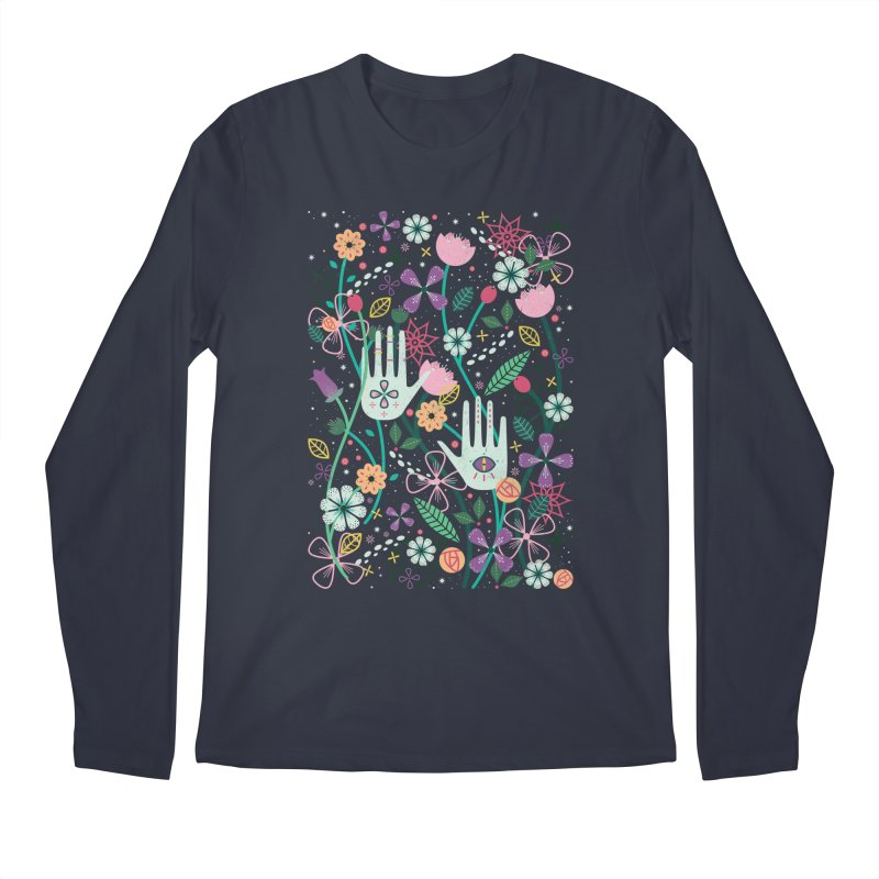 Botanical Hands  Men's Longsleeve T-Shirt by carlywatts's Shop