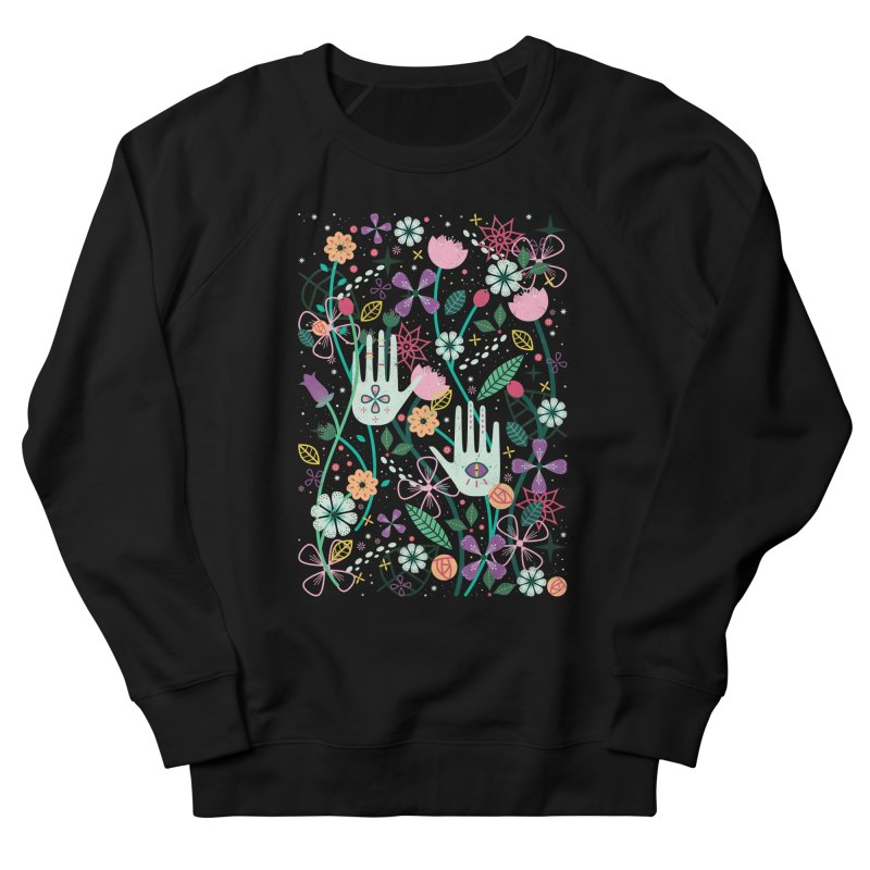 Botanical Hands Men's French Terry Sweatshirt by carlywatts's Shop