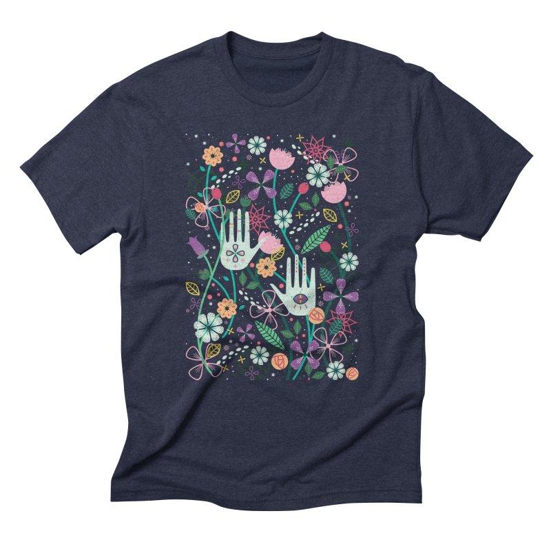 Botanical Hands  Men's Triblend T-Shirt by carlywatts's Shop