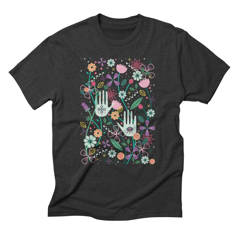 Botanical Hands Men's Triblend T-Shirt by carlywatts's Shop