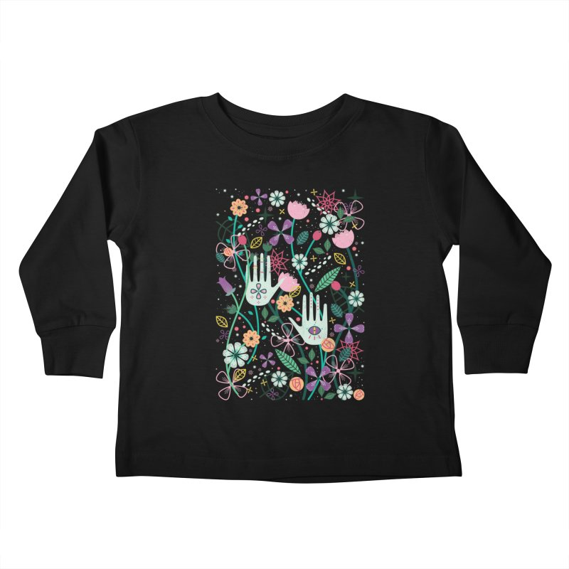 Botanical Hands  Kids Toddler Longsleeve T-Shirt by carlywatts's Shop