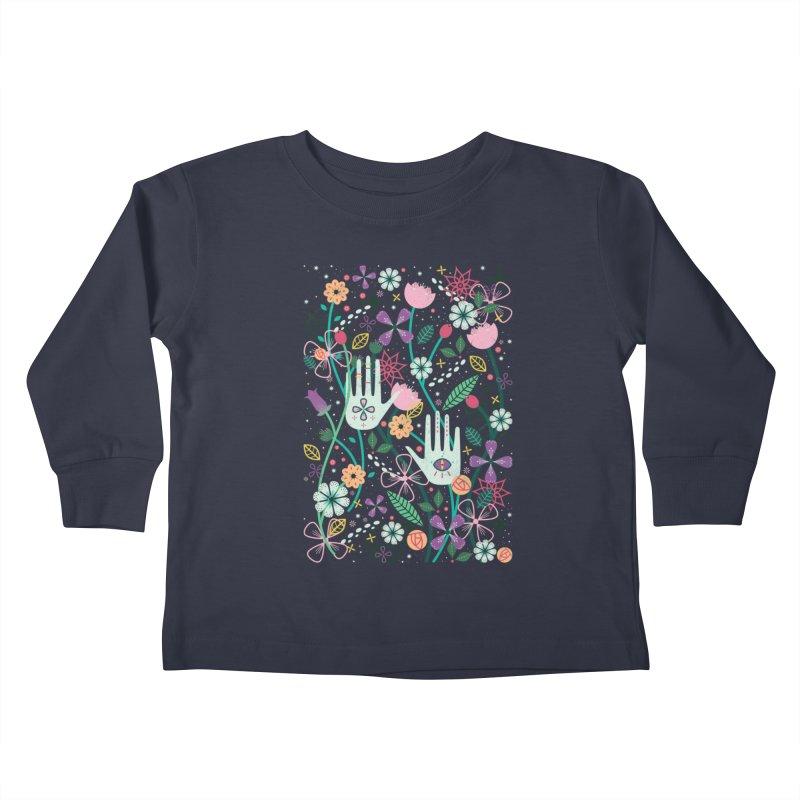 Botanical Hands  Kids Toddler Longsleeve T-Shirt by carlywatts's Shop