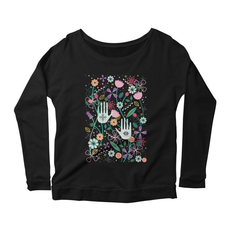 Botanical Hands Women's Longsleeve Scoopneck  by carlywatts's Shop