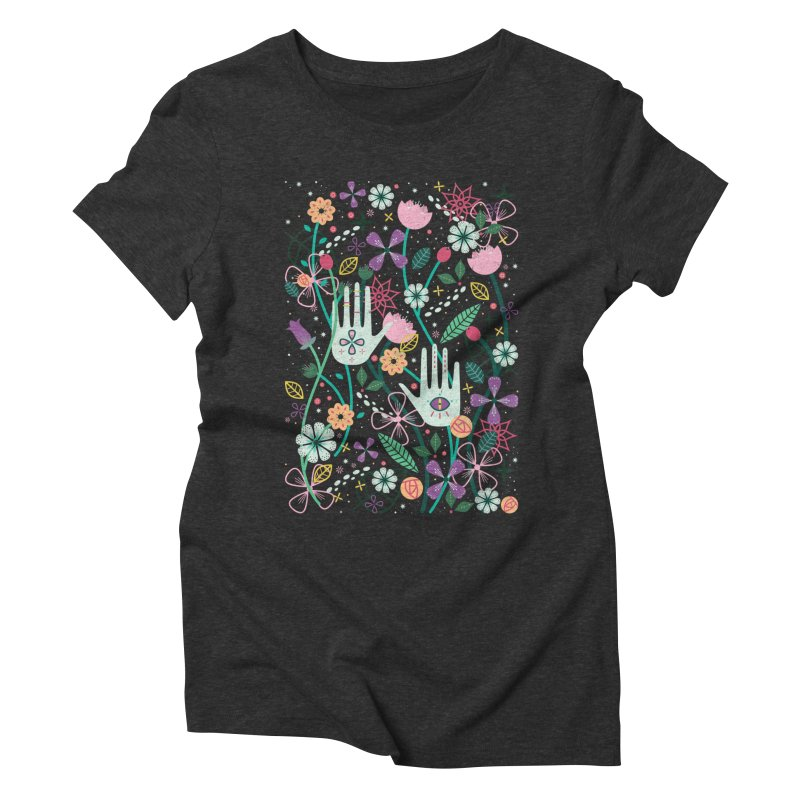 Botanical Hands Women's Triblend T-Shirt by carlywatts's Shop