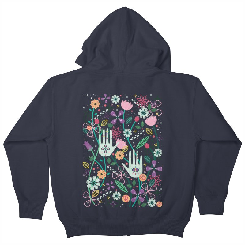 Botanical Hands  Kids Zip-Up Hoody by carlywatts's Shop