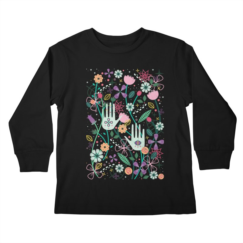 Botanical Hands  Kids Longsleeve T-Shirt by carlywatts's Shop