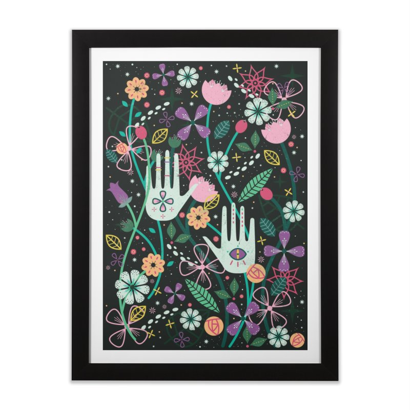Botanical Hands  Home Framed Fine Art Print by carlywatts's Shop