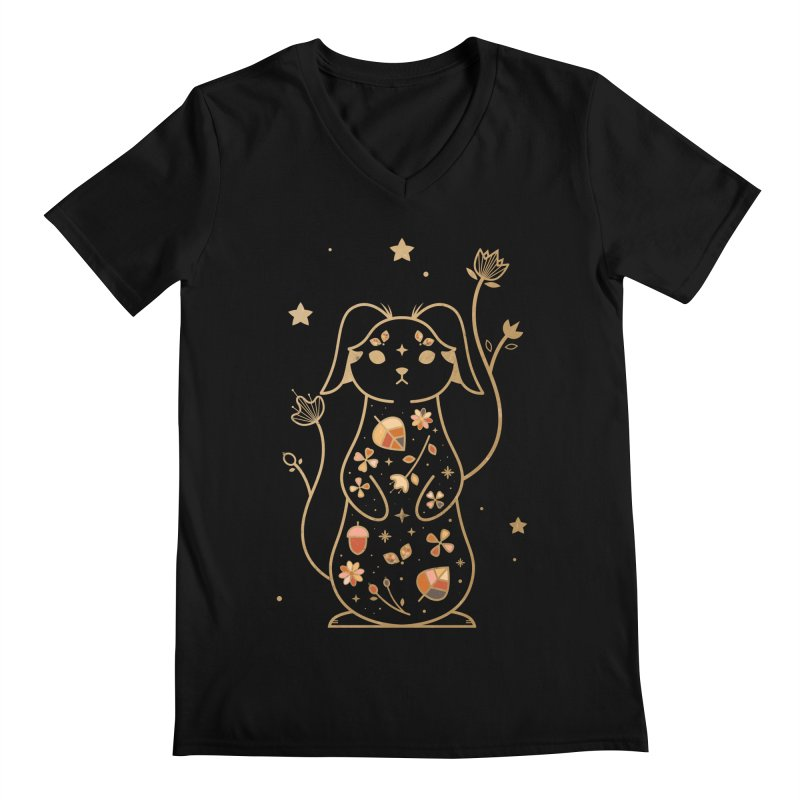 The Autumn Rabbit  Men's V-Neck by carlywatts's Shop