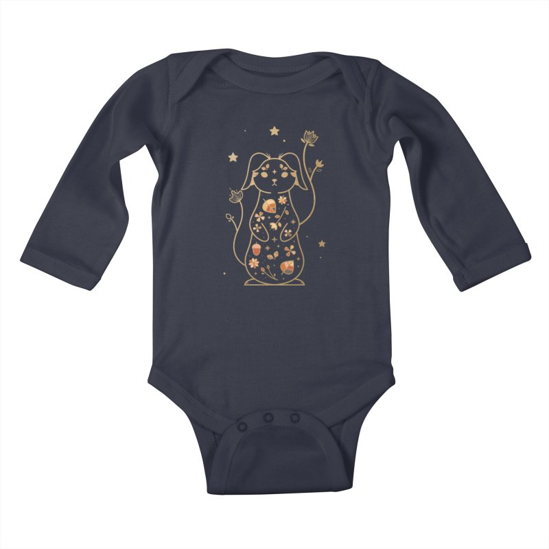 The Autumn Rabbit  Kids Baby Longsleeve Bodysuit by carlywatts's Shop