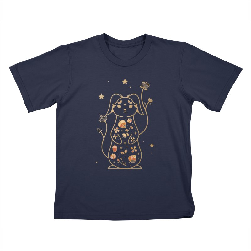 The Autumn Rabbit  Kids T-shirt by carlywatts's Shop