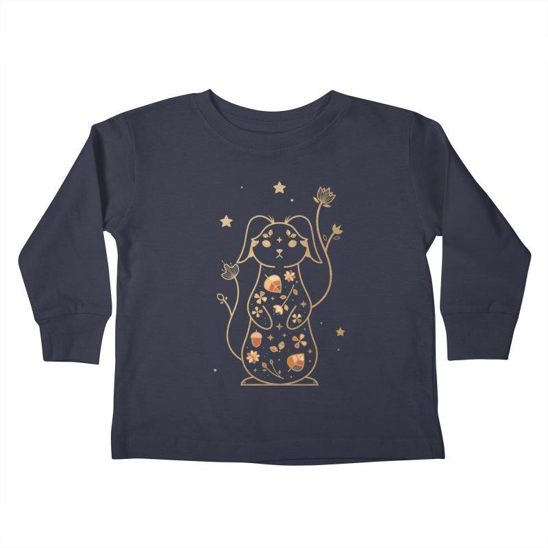 The Autumn Rabbit  Kids Toddler Longsleeve T-Shirt by carlywatts's Shop