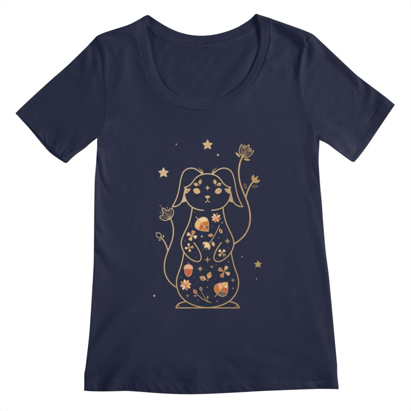 The Autumn Rabbit  Women's Scoopneck by carlywatts's Shop