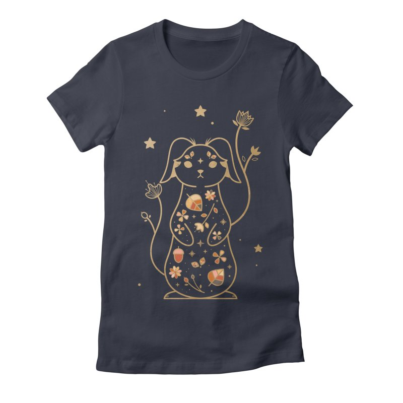 The Autumn Rabbit  Women's Fitted T-Shirt by carlywatts's Shop