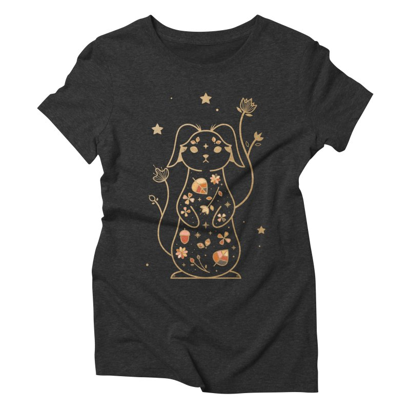 The Autumn Rabbit  Women's Triblend T-shirt by carlywatts's Shop