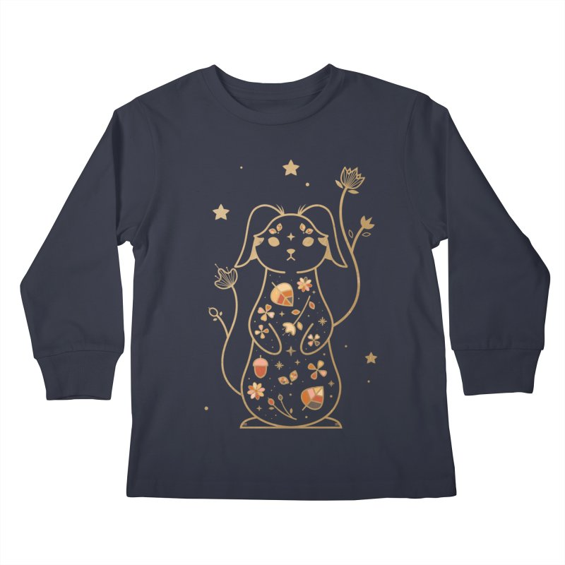 The Autumn Rabbit  Kids Longsleeve T-Shirt by carlywatts's Shop